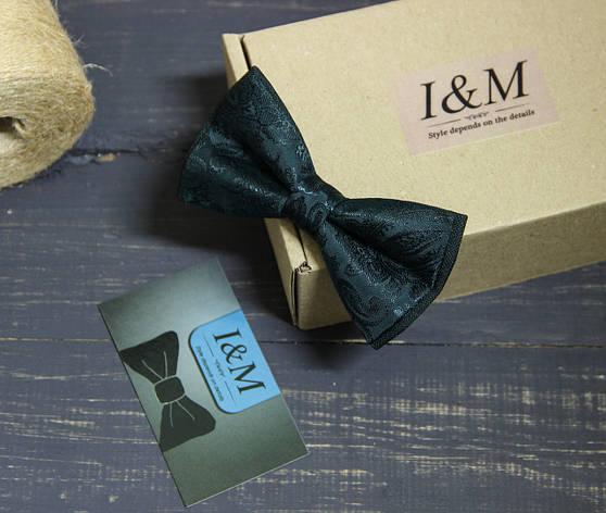 Галстук-бабочка I&M Craft зелёный (010218), фото 2