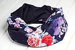 Шарф-снуд «Темно-синие цветы», фото 3