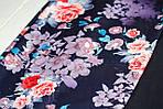 Шарф-снуд «Темно-синие цветы», фото 5