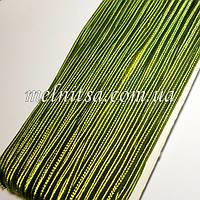 Шнур сутажный, цвет оливковый №151, шир. 3мм