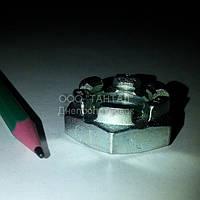 Гайка корончатая низкая М20 оцинкованная ГОСТ 5919-73 ТАНТАЛ сталь 20
