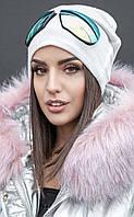 Женская вязаная шапка с имитацией очков Glasses (разные цвета)