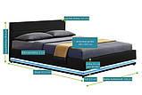 Кровать с подьемным механизмом TOU 140х200 см. с LED подсветкой, фото 3