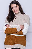 Свитер женский М516 (7 цв), женский теплый свитер под горло, вязаный свитер от производителя