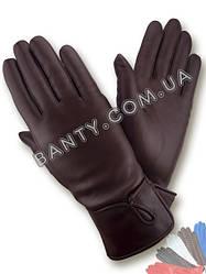 Женские перчатки на шерстяной подкладке, модель 007