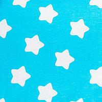 Детская простынь на резинке в кроватку BabySoon хлопок Звезды на бирюзовом 120 х 60 см (225)