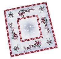 Скатерть новогодняя гобеленовая, 97х100 см, Эксклюзивные подарки, Новогодний текстиль