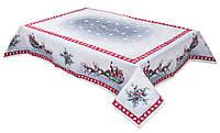 Скатерть новогодняя гобеленовая, 137х137 см, Эксклюзивные подарки, Новогодний текстиль, фото 1
