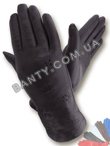 Женские перчатки на шерстяной подкладке, модель 008, фото 2