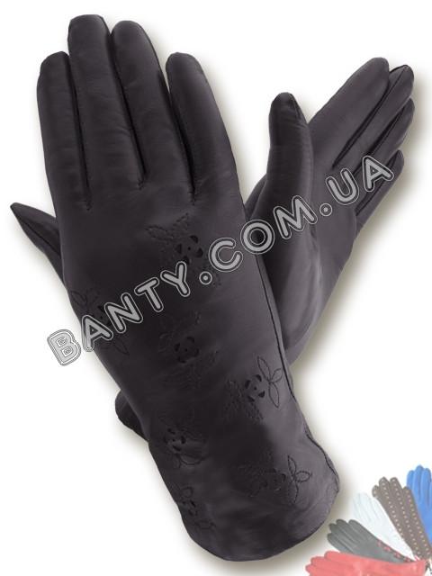 Женские перчатки на шерстяной подкладке, модель 008