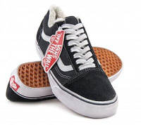 Кеды на меху Vans Old Skool Low Winter Black White, фото 1