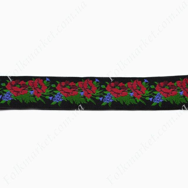 Жаккардовая тесьма с орнаментом  30 мм 0030-3