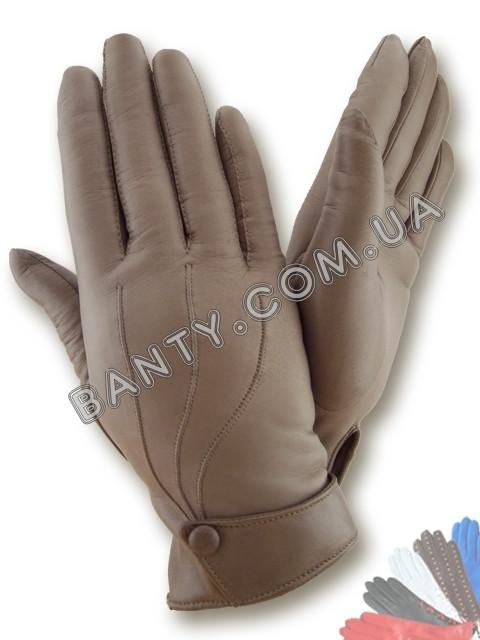 Женские перчатки на шерстяной подкладке, модель 021