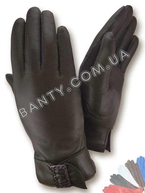 Женские перчатки на шерстяной подкладке, модель 022