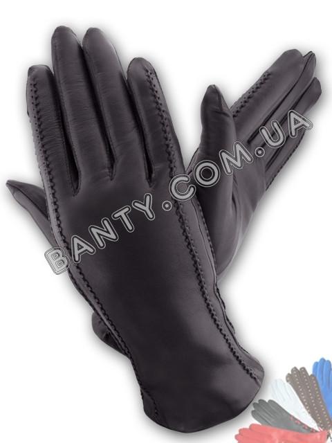 Женские перчатки на шерстяной подкладке, модель 026