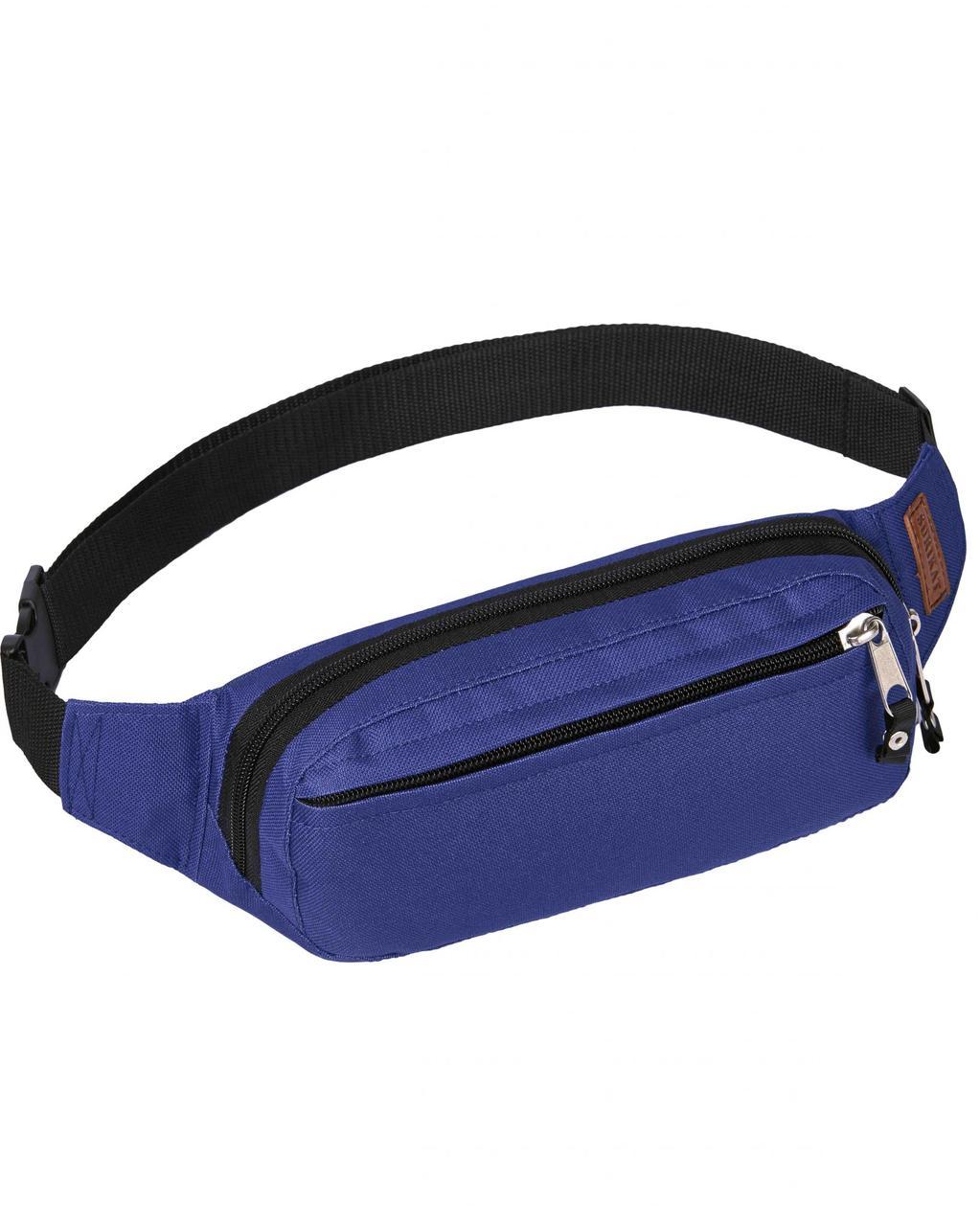 Сумка на пояс бананка Primo Surikat ярко-синяя (сумка на пояс, сумки,