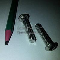 Винт нержавеющий с полукруглой головкой под шестигранный ключ М6х30 ISO 7380 ТАНТАЛ нержавеющая сталь А2