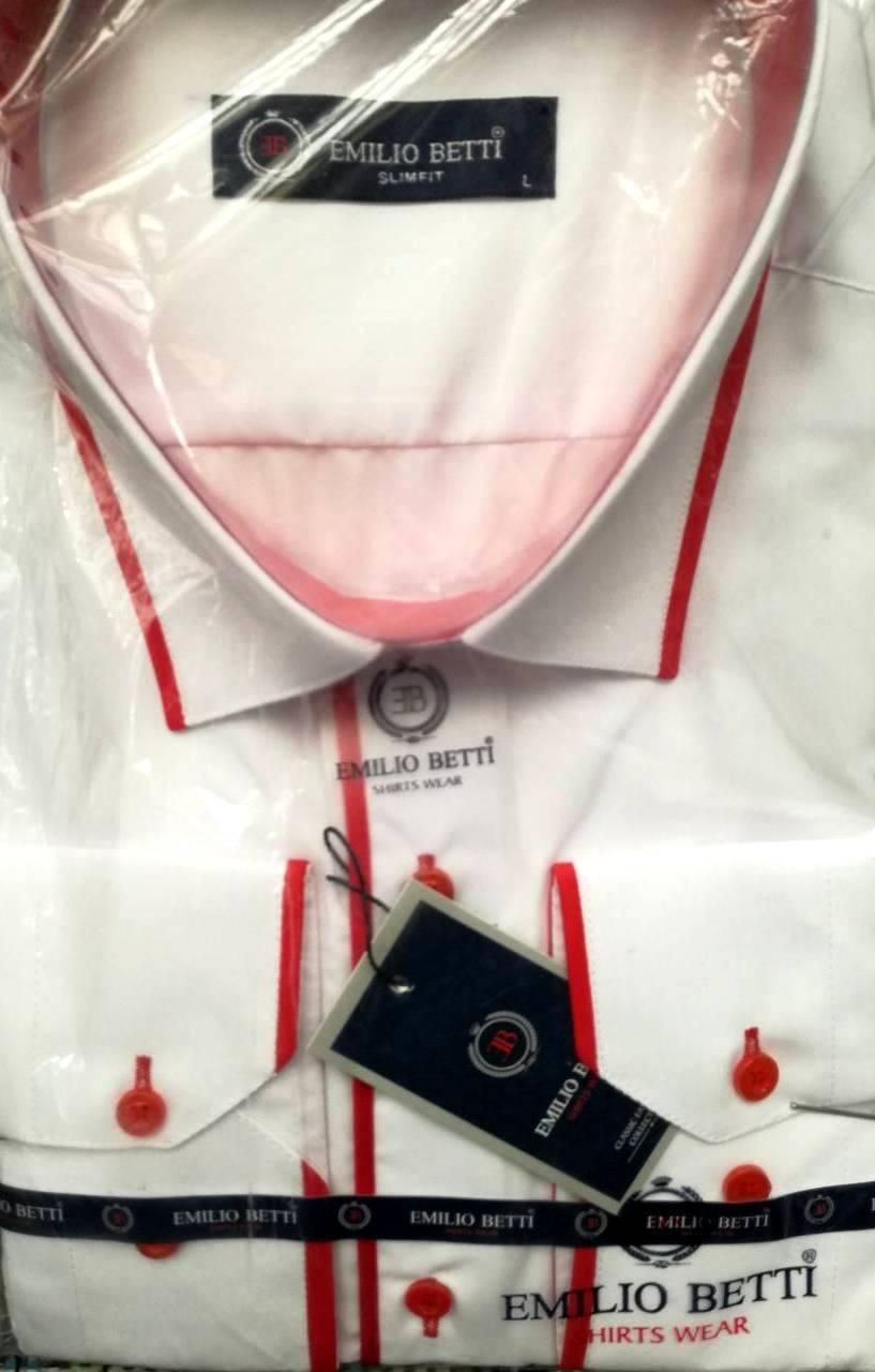 Стильная нарядная рубашка с окантовкой