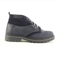 Мужские стильные кожаные ботинки на меху (шерсть) UNCIA SHOES 40