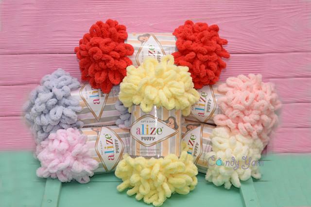 Alize Puffy, плюшевая пряжа для вязания руками
