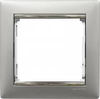 Рамка на 1 пост, алюминий/серебро - Legrand Valena
