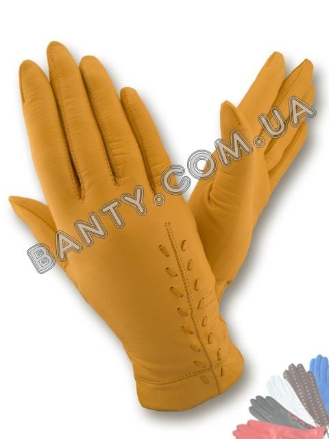 Женские перчатки на шерстяной подкладке, модель 104