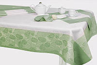 """Льняной столовый комплект """"Ливень"""" на 6 персон (скатерть 150 на 150 см)"""