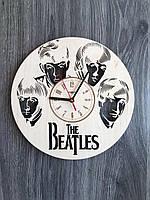 Дизайнерские настенные часы из дерева «Ливерпульская четверка»