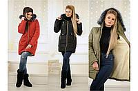 """Зимнее женское пальто на овчине """" Аляска"""