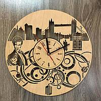 Дизайнерские деревянные часы «Доктор Кто» , фото 1