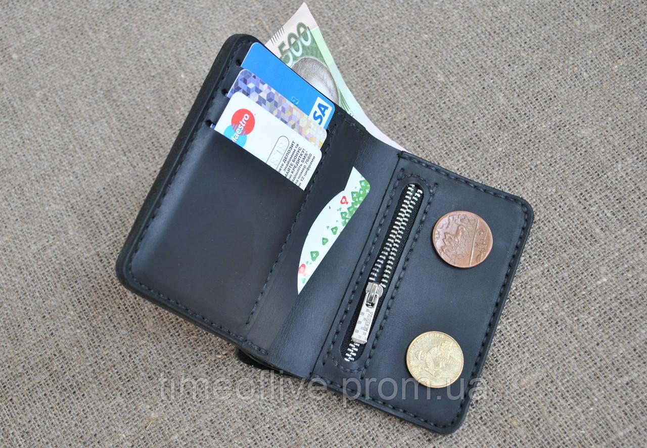 4bf0168a9f51 Компактный кошелек из натуральной кожи ручной работы - Time of live в Одессе