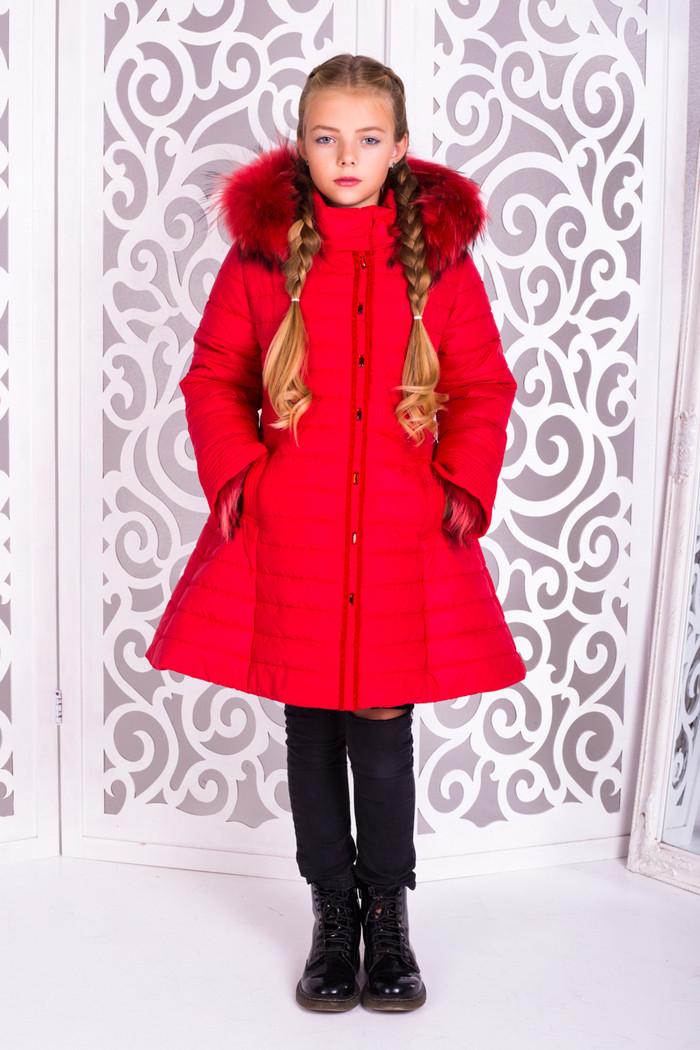 3224c980ad6 Детская зимняя куртка (пальто) на подростка девочку Марианна на рост от  122см до 146см