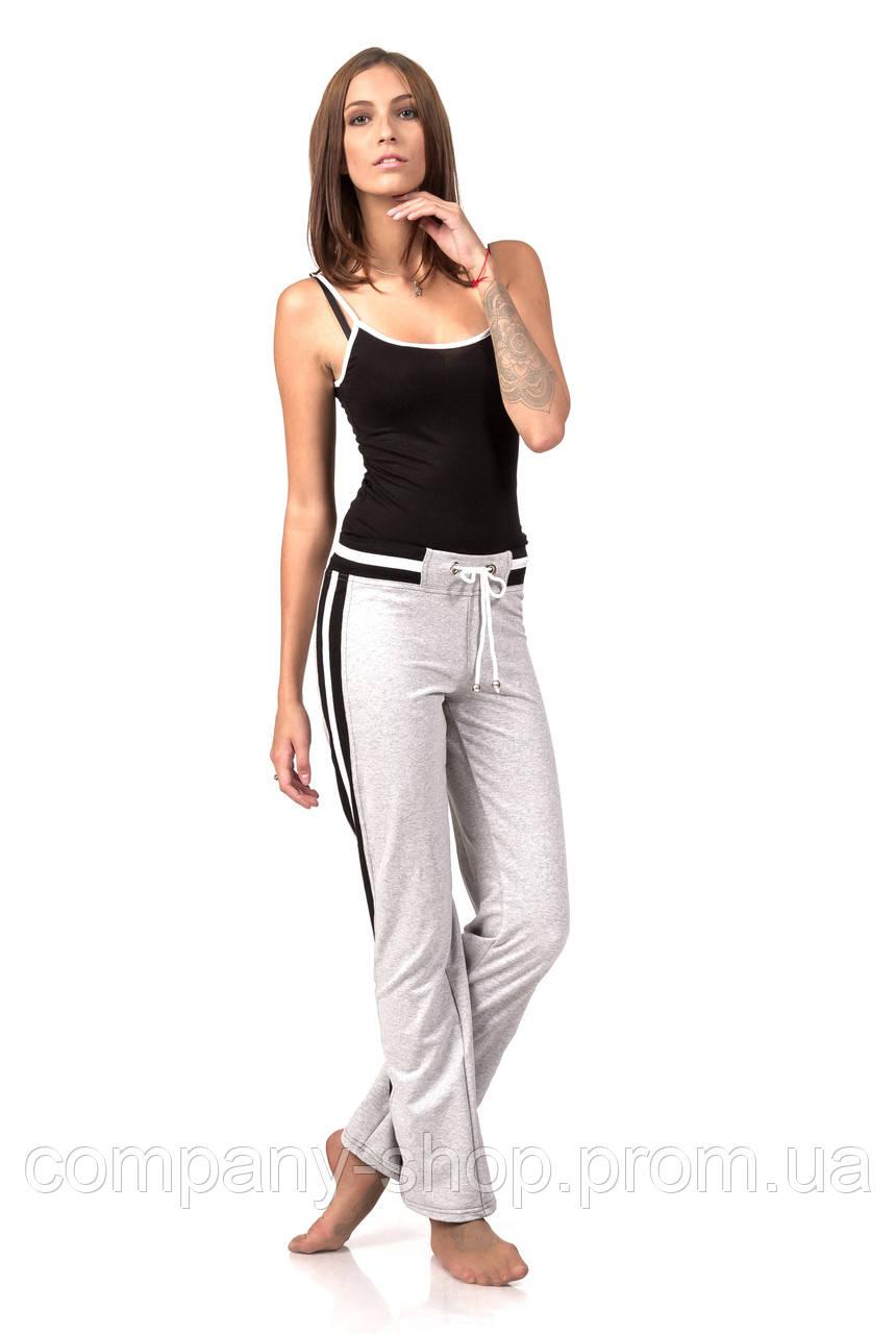 Женские трикотажные брюки  оптом. Модель БР19_серый двунитка.