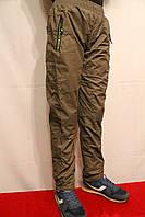 Оливковые спортивные штаны на флисе от 8 до 16лет на рост 134-164см. Фирма -Niebieski Польша.