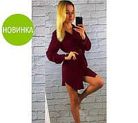 Платье-рубашка бордо
