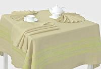Льняной столовый комплект на 6 персон (скатерть 150 на 150 см)