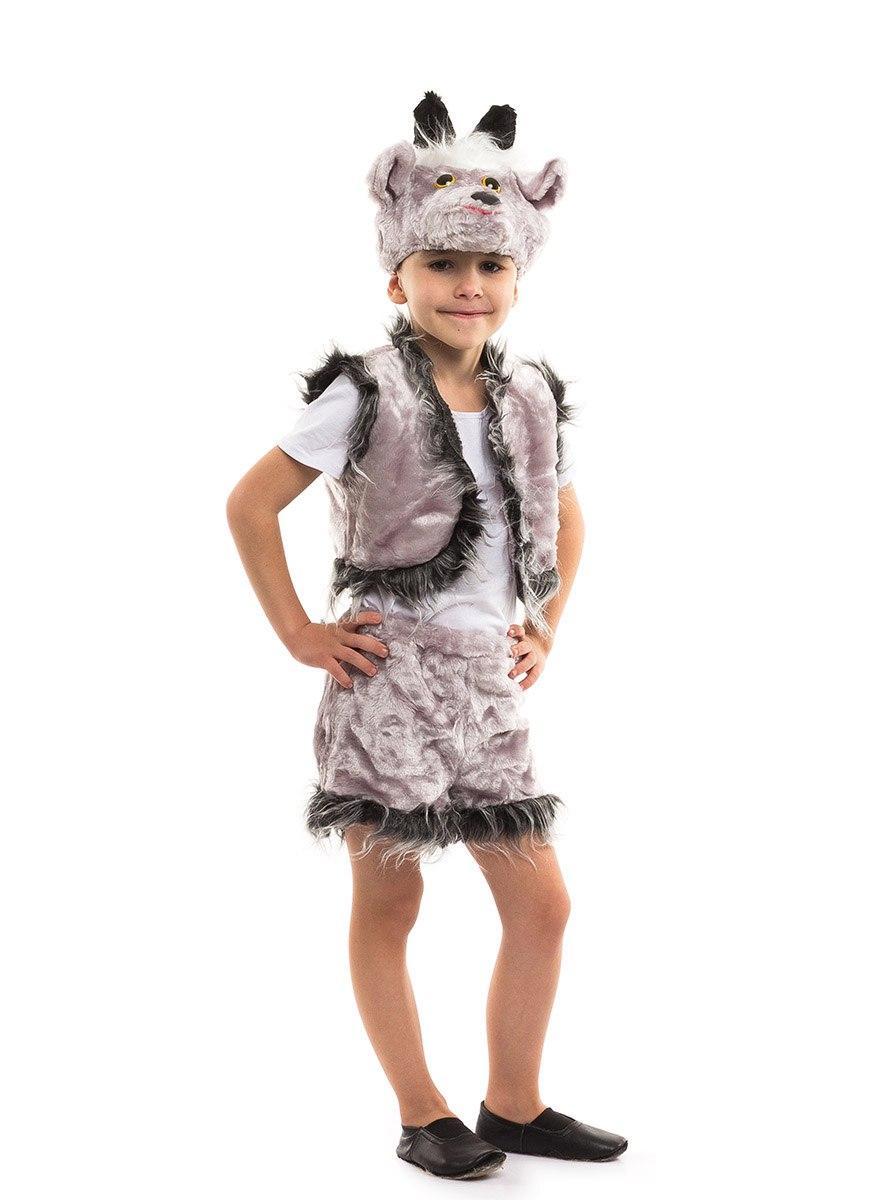Карнавальный костюм Козлик белый, серый