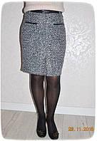 Теплая юбка средней длины