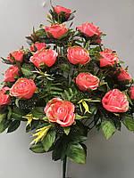 Искусственные цветы Роза золото фатин