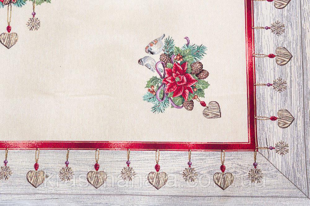 Скатерть новогодняя гобеленовая, 137х180 см, Эксклюзивные подарки, Новогодний текстиль