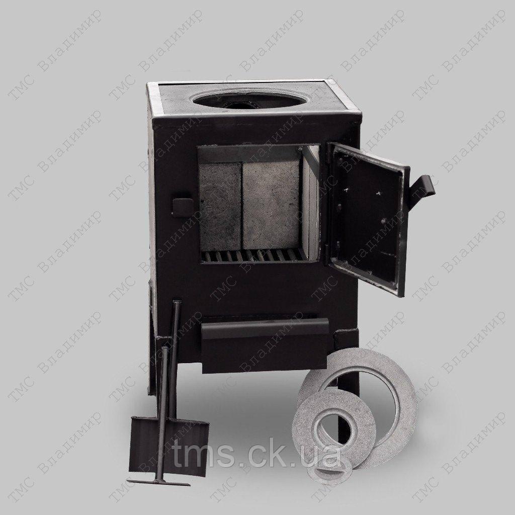 Печь отопительная КВД-100 с чугунной варочной поверхностью