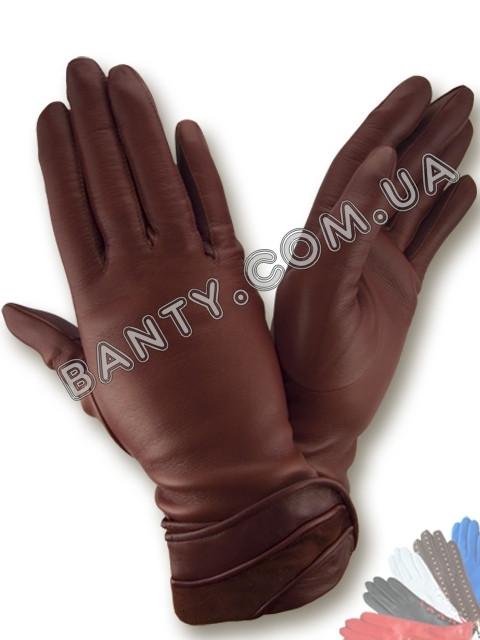 Женские перчатки на шерстяной подкладке модель 127