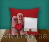 "Подушка с местом для сублимации А4 формата ""Love you"""