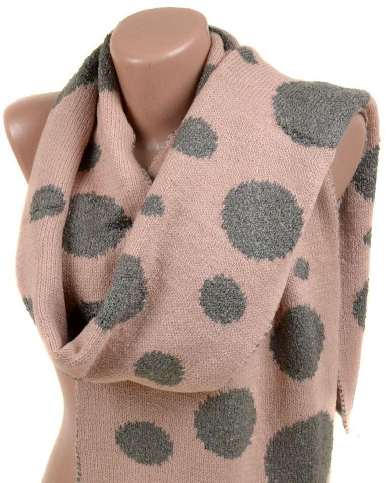 Оригинальный женский шарф 30*190 M0450 pink Розовый