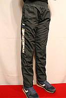 Зимние спортивные штаны на флисе от 8 до 16 лет на рост 134-164см. Черного цвета. П