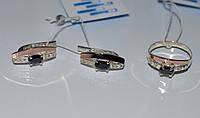 Купить серебряный набор с золотыми накладками