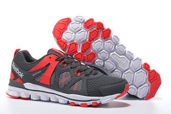 Кроссовки Reebok Hexaffect Run 2.0 Gray Red Серые мужские
