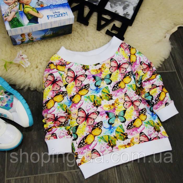 Кофточка с рукавами реглан бабочки на цветах Five Stars KD0056-116p