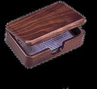 Контейнер для визиток деревянный, орех 1315wdn