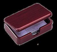 Контейнер для визиток деревянный, красное дерево 1315wdm
